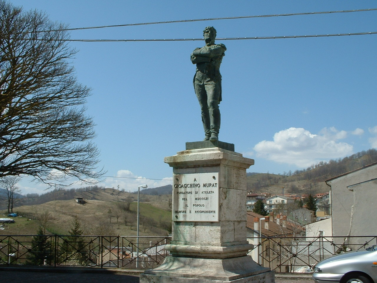 The statue of Gioacchino Murat in Ateleta